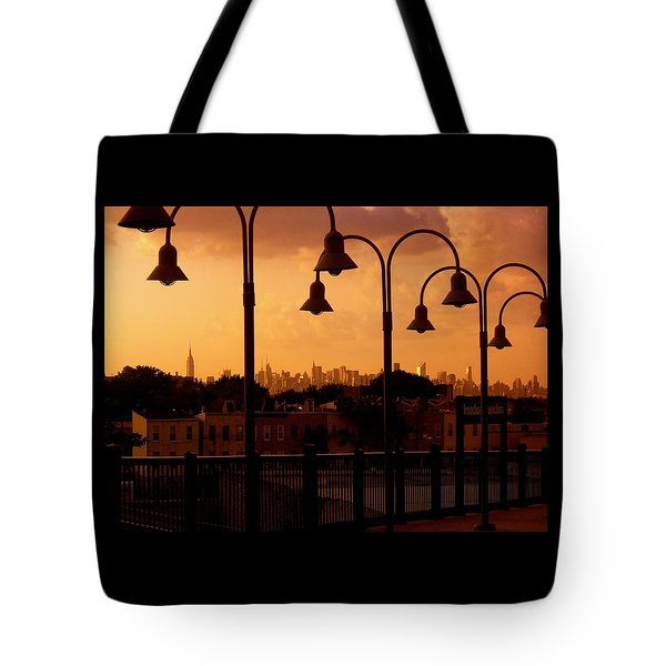 Broadway Junction In Brooklyn Tote Bag by Monique Wegmueller