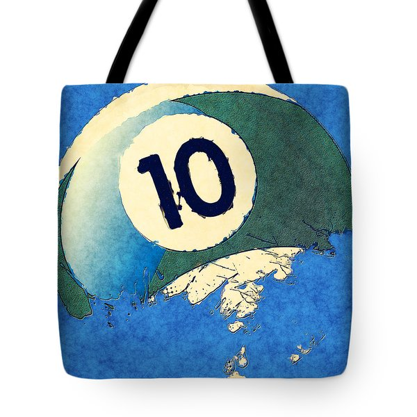 Broken 10 Ball Tote Bag by David G Paul