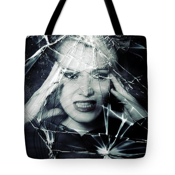 broken window Tote Bag by Joana Kruse