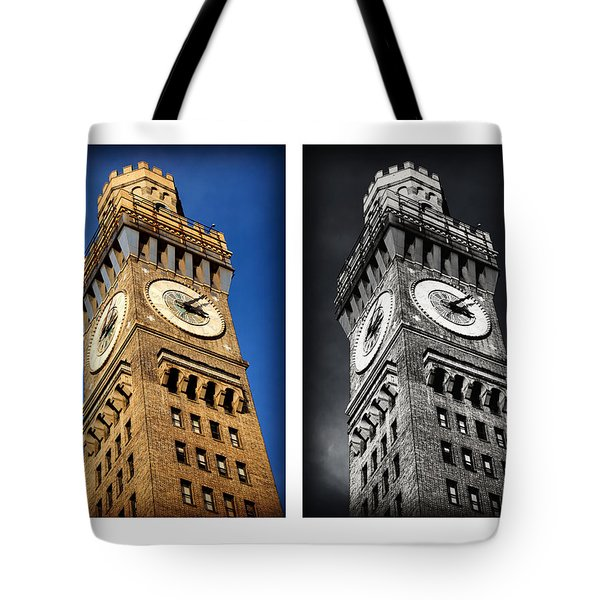 Bromo Seltzer Black And Blue Tote Bag by Stephen Stookey