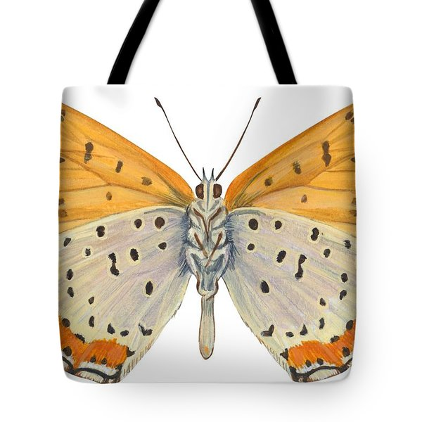 Bronze Copper Butterfly Tote Bag by Anonymous