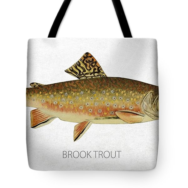 Brook Trout Tote Bag by Aged Pixel