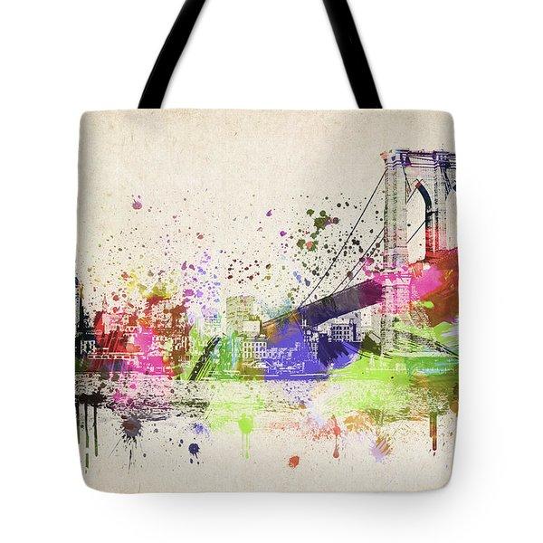 Brooklyn Bridge Tote Bag by Aged Pixel