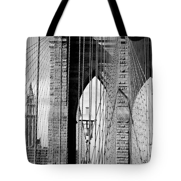 Brooklyn Bridge New York City Usa Tote Bag by Sabine Jacobs