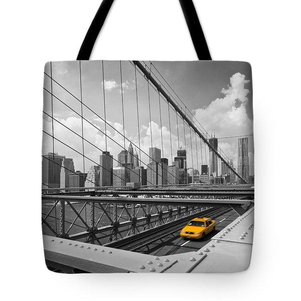 Brooklyn Bridge View Nyc Tote Bag by Melanie Viola
