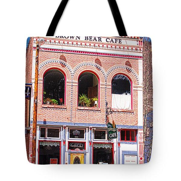 Brown Bear Cafe Silverton Colorado Tote Bag by Janice Rae Pariza