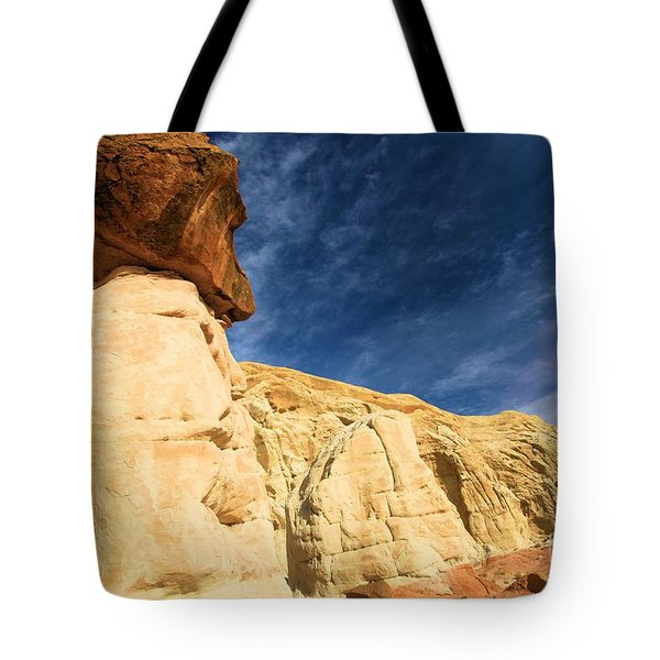 Brown Cap Tote Bag by Adam Jewell