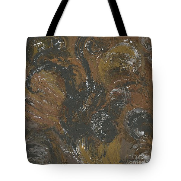 Brown Color of Energy Tote Bag by Ania Milo