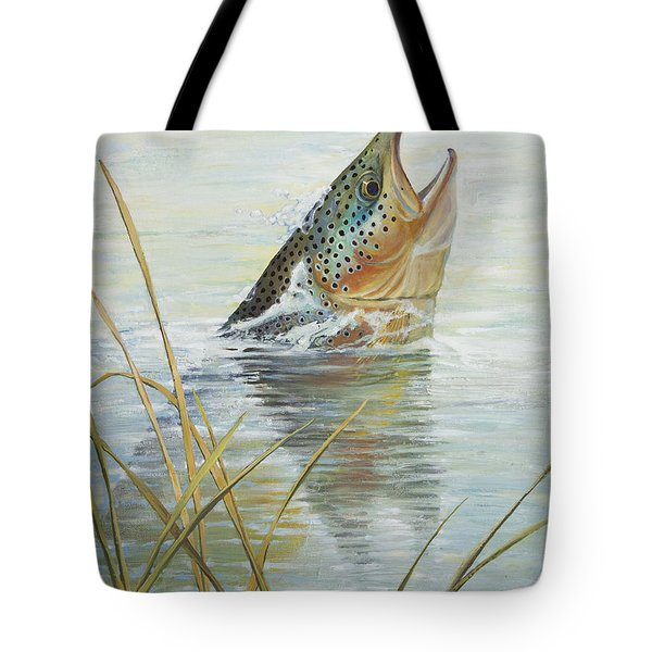 Brown Takes Damsel Tote Bag by Rob Corsetti