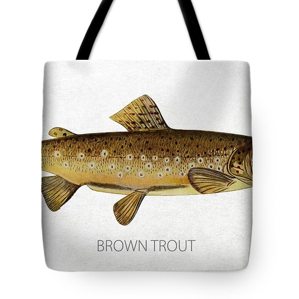 Brown Trout Tote Bag by Aged Pixel