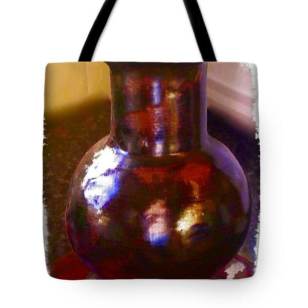 Brown Vase Design Tote Bag by Joan-Violet Stretch
