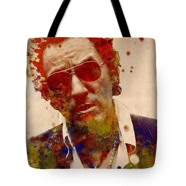 Bruce Springsteen Tote Bag by MB Art factory