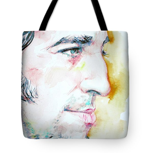 Bruce Springsteen Profile Portrait Tote Bag by Fabrizio Cassetta