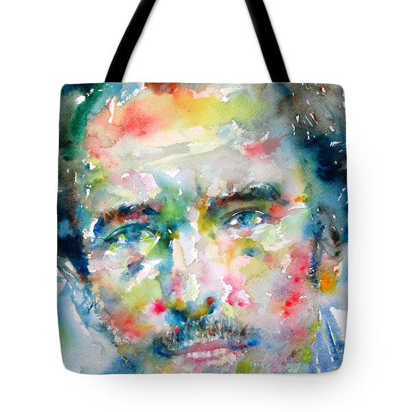 BRUCE SPRINGSTEEN WATERCOLOR PORTRAIT.1 Tote Bag by Fabrizio Cassetta