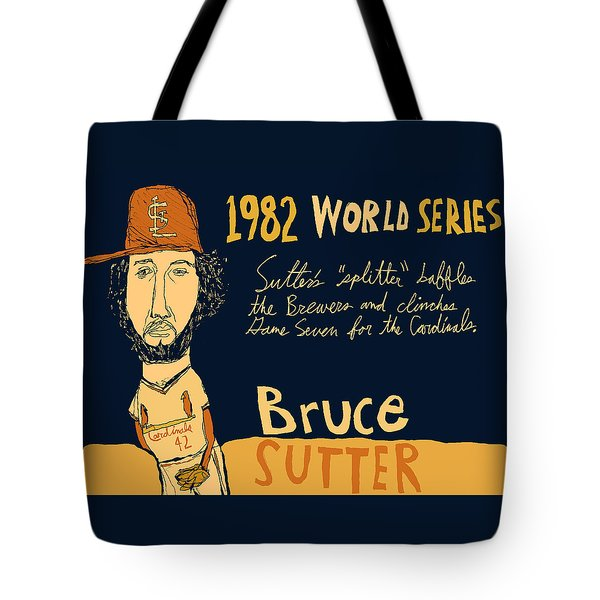 Bruce Sutter St Louis Cardinals Tote Bag by Jay Perkins