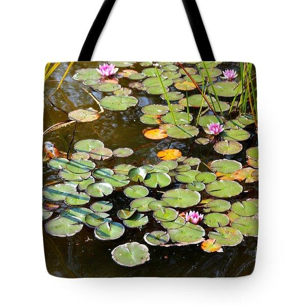 Bruges Lily Pond Tote Bag by Carol Groenen