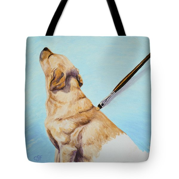 Brushing the Dog Tote Bag by Crista Forest