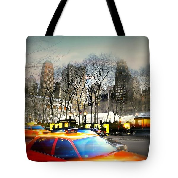 Bryant Park Taxi Tote Bag by Diana Angstadt