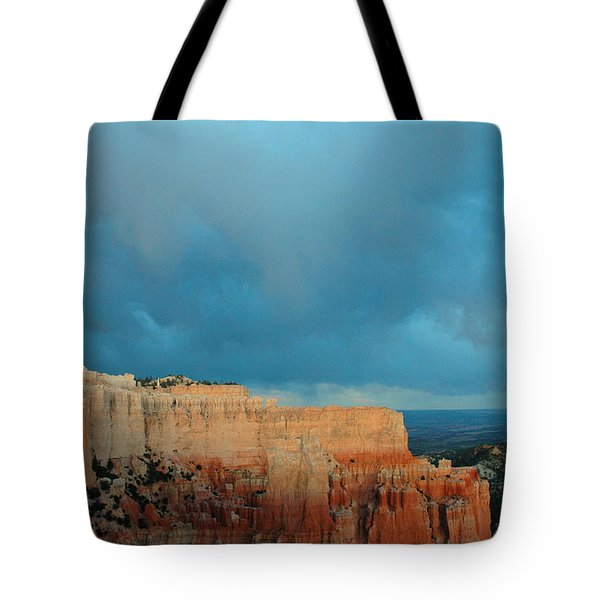 Bryce Canyon And Stormy Sky Tote Bag by Bruce Gourley