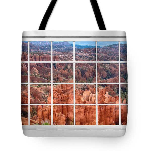 Bryce Canyon White Picture Window View Tote Bag by James BO  Insogna
