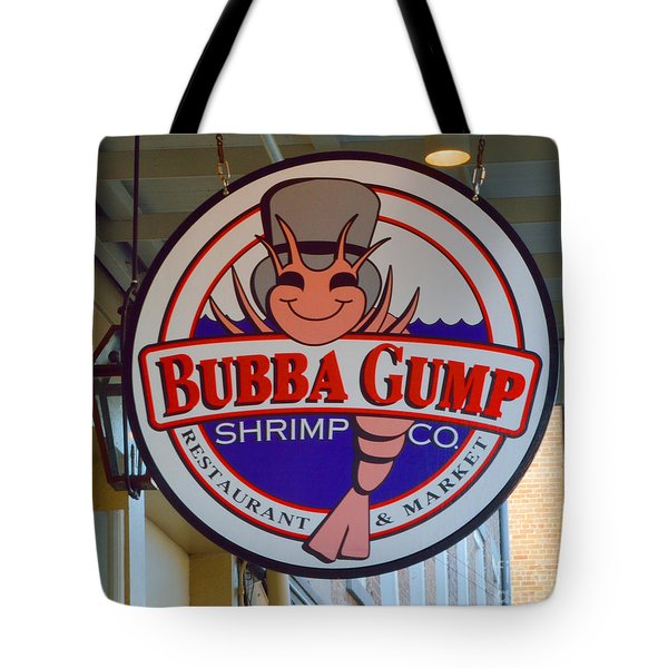 Bubba Gump Shrimp Sign Tote Bag by Alys Caviness-Gober