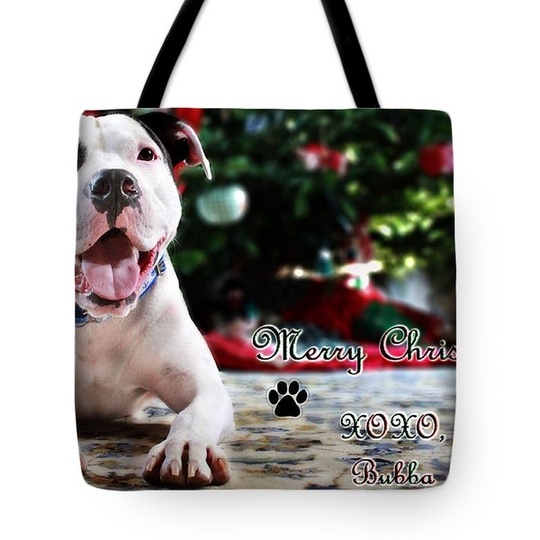 Bubba's First Christmas Tote Bag by Shelley Neff