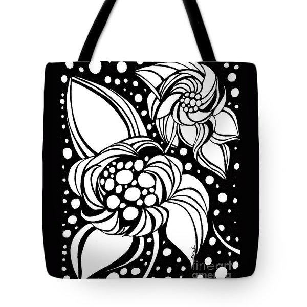 Bubble Flowers Tote Bag by Sarah Loft