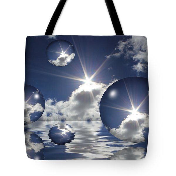 Bubbles In The Sun Tote Bag by Shane Bechler