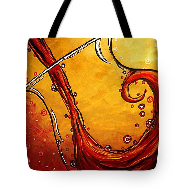 BUBBLING JOY Original MADART Painting Tote Bag by Megan Duncanson