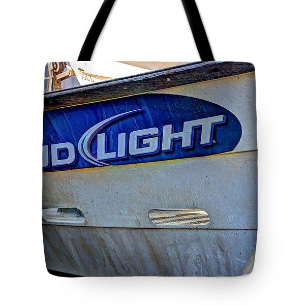 Bud Light Dory Boat Tote Bag by Heidi Smith