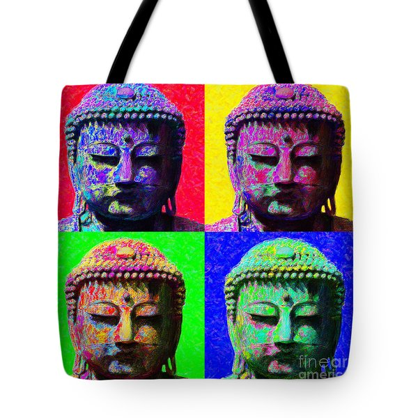 Buddha Four 20130130 Tote Bag by Wingsdomain Art and Photography