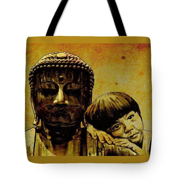 buddha girl Tote Bag by Richard Tito
