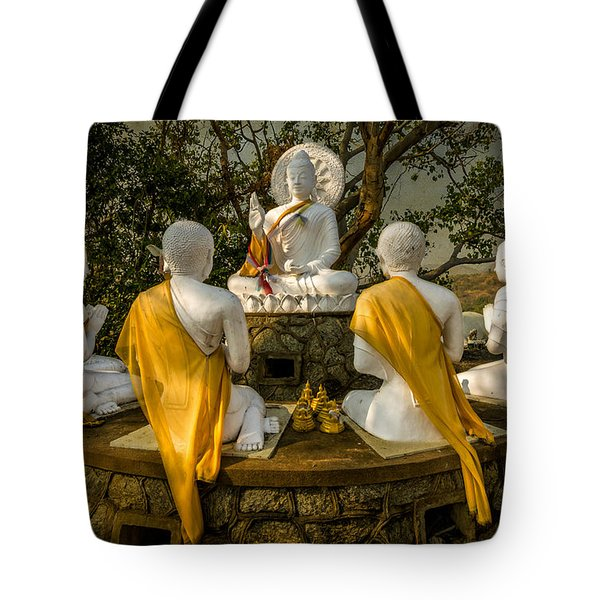 Buddha Lessons Tote Bag by Adrian Evans