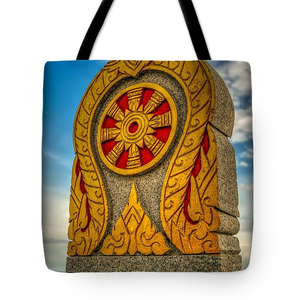 Buddhist Icon Tote Bag by Adrian Evans