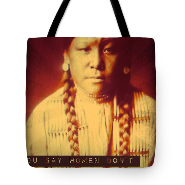 Buffalo Calf Road Woman Tote Bag by Michelle Dallocchio