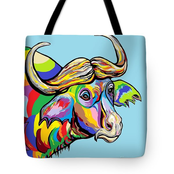 Buffalo Tote Bag by Eloise Schneider