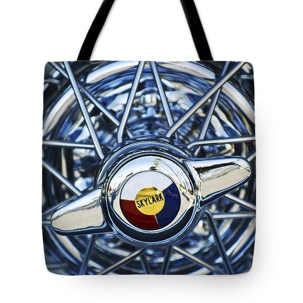 Buick Skylark Wheel Tote Bag by Jill Reger