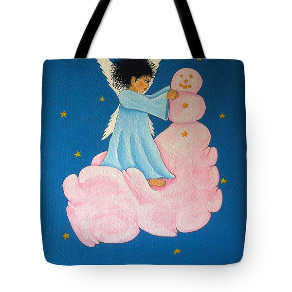 Building A Cloudman Tote Bag by Pamela Allegretto