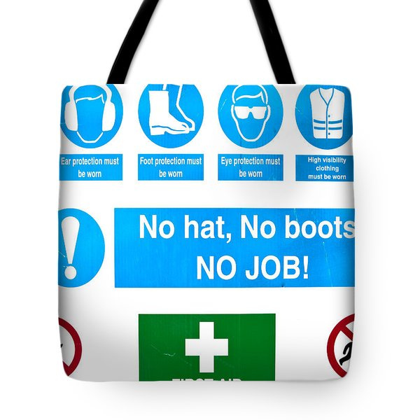 Building site safety Tote Bag by Tom Gowanlock