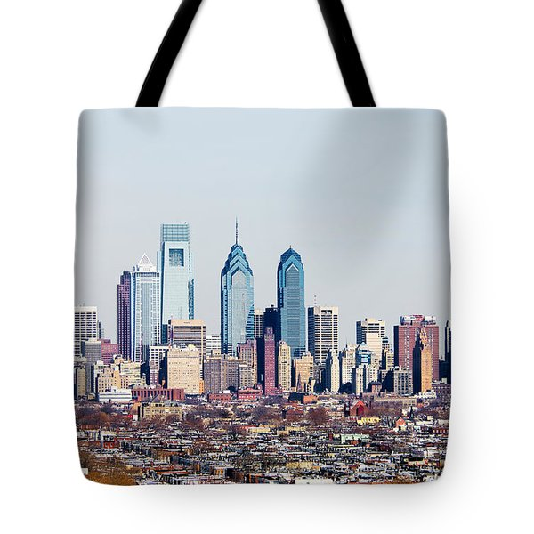 Buildings In A City, Comcast Center Tote Bag by Panoramic Images