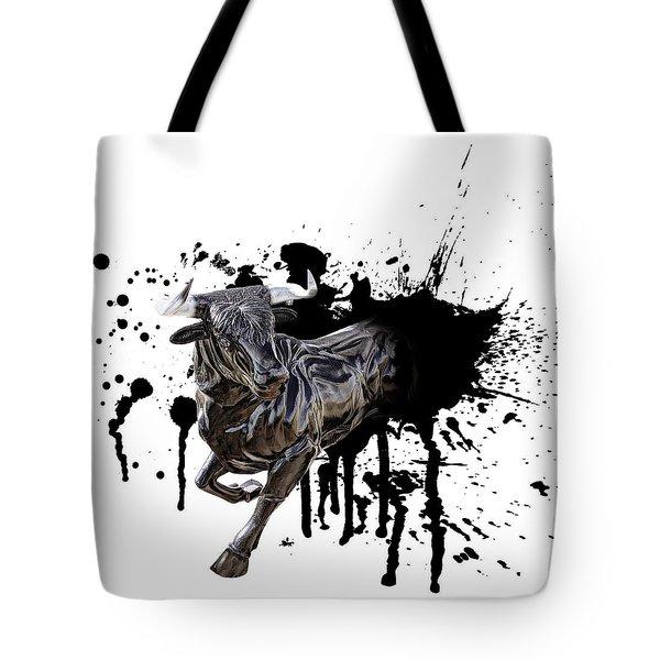 Bull Breakout Tote Bag by Daniel Hagerman