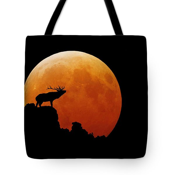 Bull Elk Tote Bag by Stuart Harrison