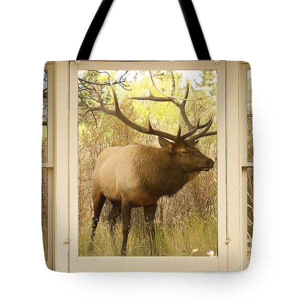 Bull Elk Window View Tote Bag by James BO  Insogna