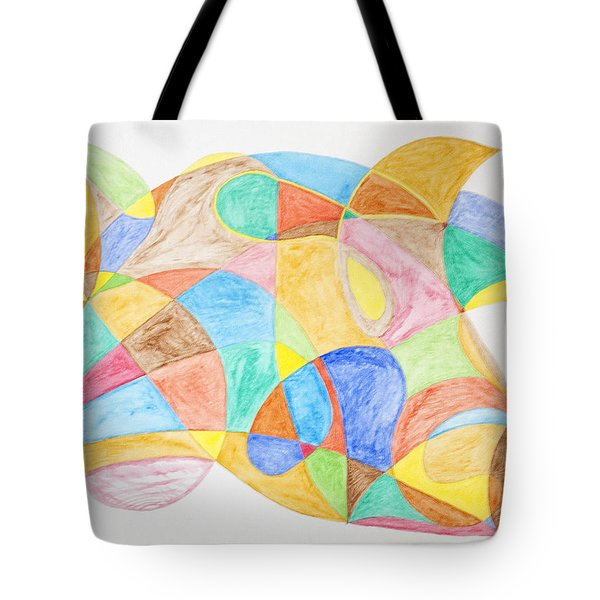 Bull Fish Car Face Tote Bag by Stormm Bradshaw