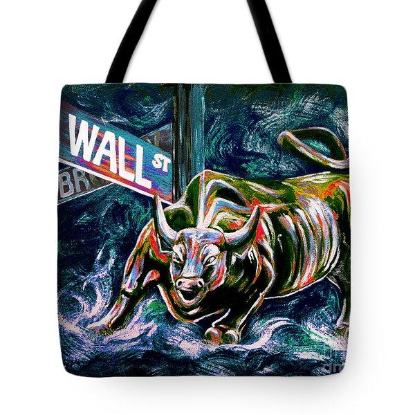 Bull Market Night Tote Bag by Teshia Art