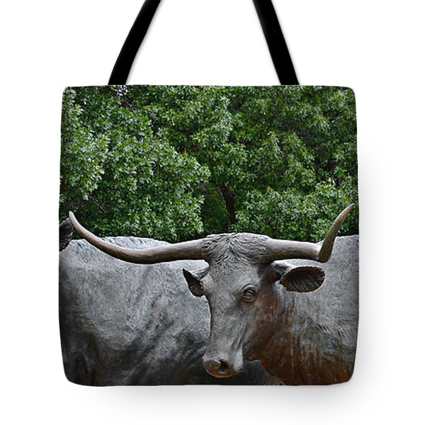 Bull Market Quadriptych 3 Of 4 Tote Bag by Christine Till