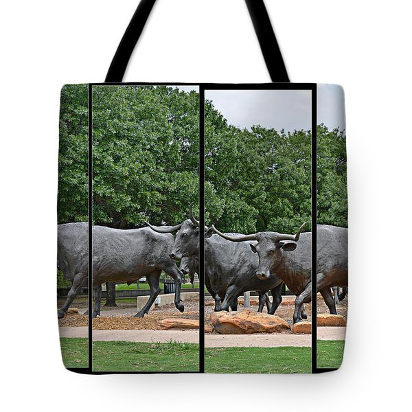 Bull Market Quadriptych Tote Bag by Christine Till