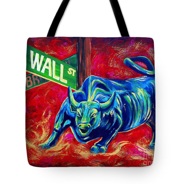 Bull Market Tote Bag by Teshia Art