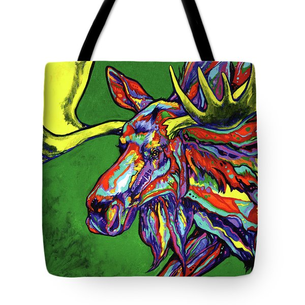 Bull Moose Tote Bag by Derrick Higgins