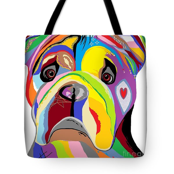 Bulldog Tote Bag by Eloise Schneider